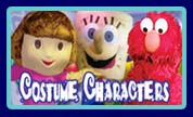 Costume Characters - Spongebob, Dora, Elmo, Blues Clues Dog, Barney